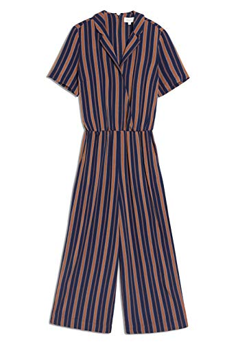 ARMEDANGELS Damen AURAA Multicol Stripes - AURAA Multicol Stripes - M Evening Blue-Maroon 100% Viskose (lenzing™ Ecovero™) Hose Jumpsuit