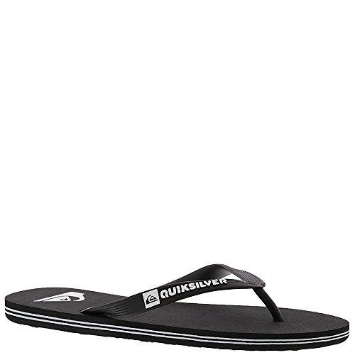 Quiksilver Men's Molokai 3-Point Flip Flop Sandal, Black/Black/White, 11 M US