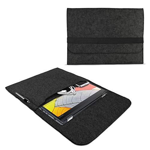 eFabrik Filz Sleeve für Lenovo Thinkpad Yoga 370 Schutzhülle 13,3 Zoll Ultrabook Notebook Tasche Hülle Soft Cover Schutztasche, Farbe:Dunkelgrau