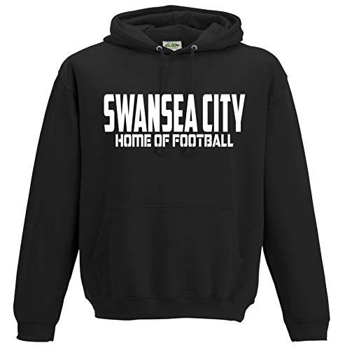 Swansea City Home of Football Premium Hoodie Gift Mens Present (Large) Black