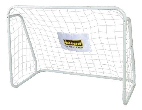 Idena 40099 - Fußballtor aus Metall mit Netz, ab 6 Jahren, ca. 124 x 96 x 61 cm, schnelle Montage, ideal für Garten, Park, Strand oder Halle