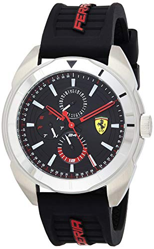 Scuderia Ferrari Herren Multi Zifferblatt Quarz Uhr mit Silikon Armband 830546