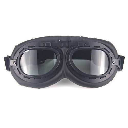 aoory Goggles Retro Motor Brille Reiten Winddicht Cool Sonnenbrille für Herren braun