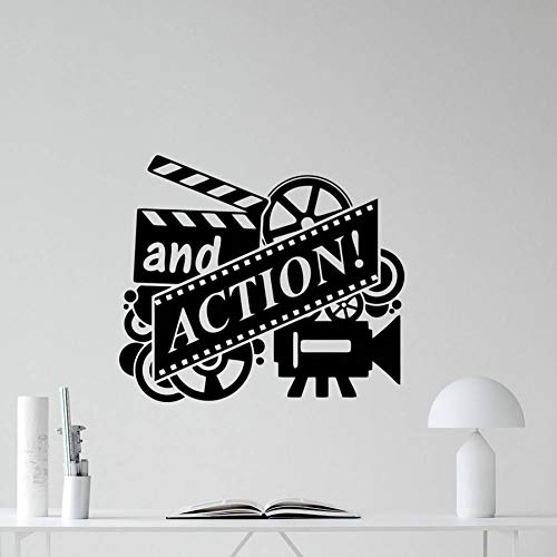 FOMBV Action film muur sticker film reel cinema home cinema vinyl muur sticker verwijderbare decoratie behang lijm muur posters