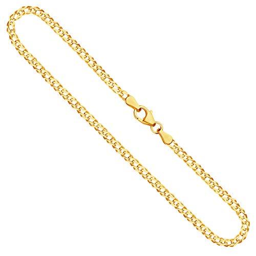 Goldkette, Zwillingspanzerkette Gelbgold 585/14 K, Länge 50 cm, Breite 2.9 mm, Gewicht ca. 6.1 g, NEU