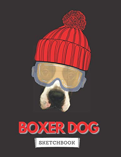 Boxer Dog Sketchbook: Children Sketch Book for Drawing Practice | Cute Boxer Dog Cover | Great Gift for Boys and Girls | Winter Edition | (Volume 4) (Boxer Hacker)