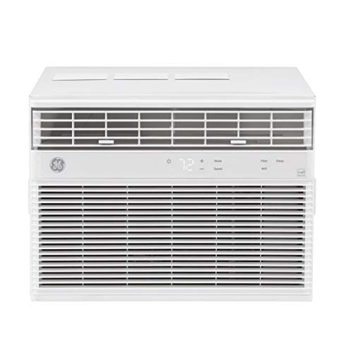 GE Energy Star 12,000 BTU Smart Electronic Window Air Conditioner for Large Rooms up to 550 sq ft, White