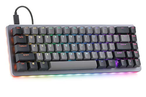 Massdrop ALT Mechanical Keyboard - 65% (67 Key) Gaming Keyboard, Hot-Swap Switches, Programmable Macros, RGB LED Backlighting, USB-C, Doubleshot PBT, Aluminum Frame (Kaihua Box White)