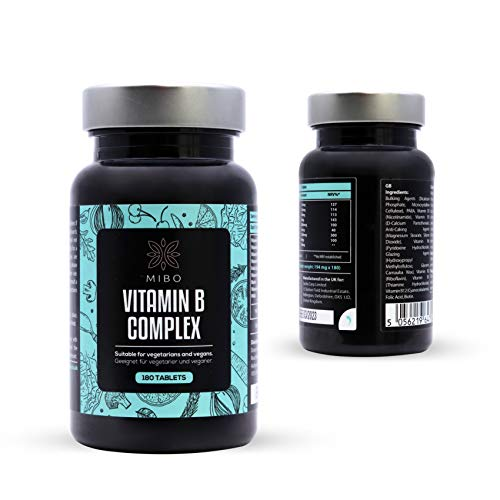 MiBo - Vitamin B Complex Tablets - 180 Tablets Bottle