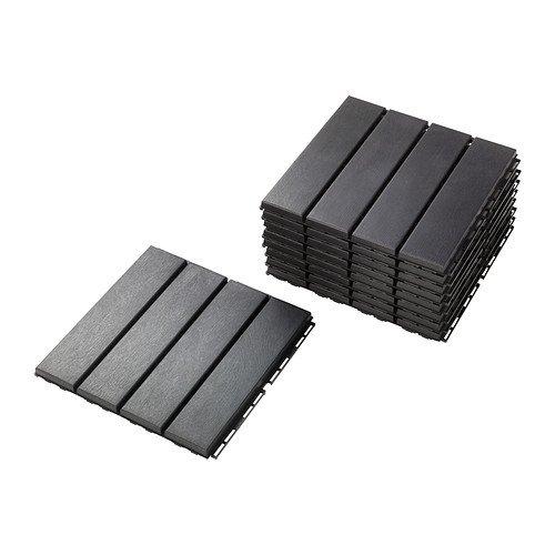 IKEA Outdoor Deck and Patio Interlocking Flooring Tiles (Dark Gray) 902.381.11