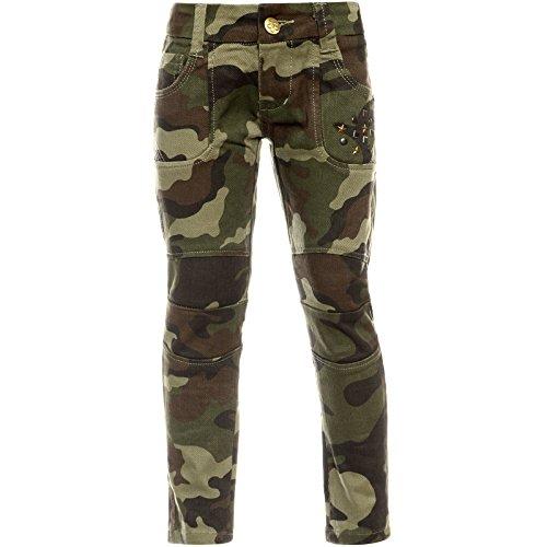 BEZLIT BEZLIT Madchen Camouflage Chino Hose Verstellbaren Bund Nieten 21879 Grun(51)116 bis 122 cm / 8 Jahre