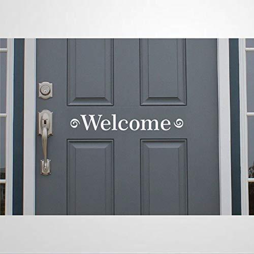 Pegatina de pared de vinilo para oficina y negocios, diseño de bienvenida, para decoración del hogar, póster extraíble para dormitorio, sala de estar, guardería en interiores.