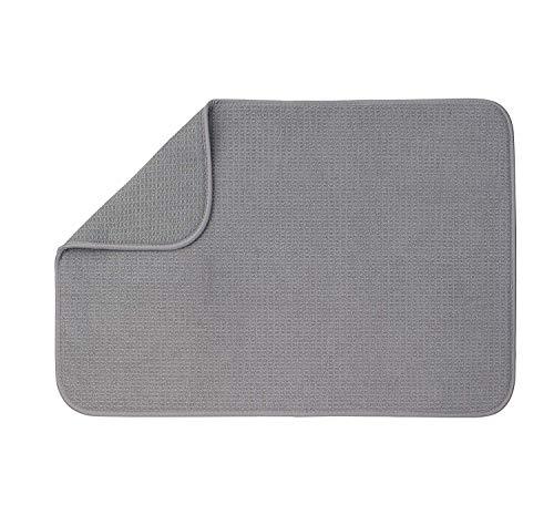 """XXL Dish Mat 24"""" x 17"""" (LARGEST MAT) Microfiber Dish Drying Mat, Super absorbent by Bellemain"""