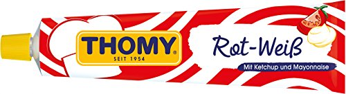 Thomy Rot-Weiß Ketchup & Mayonnaise Tube, 6er Pack (6 x 200 ml)