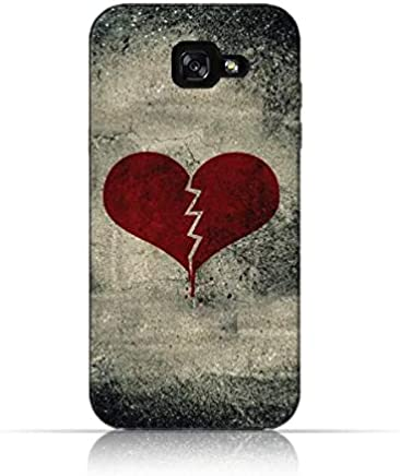 Samsung Galaxy A5 2017 TPU Silicone Case with Broken Heart - Grunge Style Design