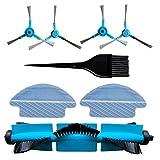 REYEE Pack de 8 Kit de Accesorios de Repuesto para Cecotec Conga 3090 Robot Aspiradora 1- Cepillo Principal & 1- Herramienta de Limpieza & 4- Cepillo Lateral & 2- Trapo de Limpieza