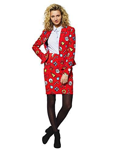 Traje de Navidad OppoSuits para mujeres en diferentes impresiones – se compone de chaqueta y falda. Decoración...