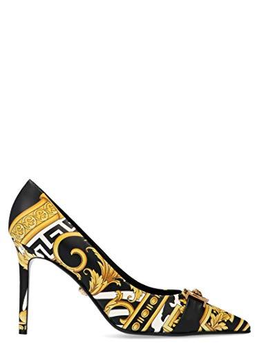 Versace Damen Dsr600ndv1bxdnobt Schwarz Leder Pumps