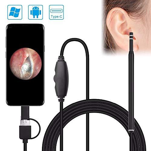 Camara Espia Mini Camara 5.5Mm Visual Earwax Cleaner Android Endoscopio Cámara OTG Android USB Otoscopio Oído Herramienta De Inspección De Cuidado De La Salud Cámara