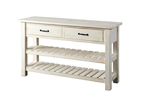 white antique console table - 2