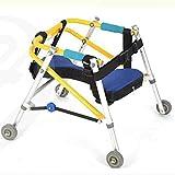 Ausili per la riabilitazione degli arti inferiori per bambini Stand di allenamento Deambulatore Direzionale Quattro ruote Arto inferiore Disabilità Telaio di scorrimento Telaio per bambini in piedi,M