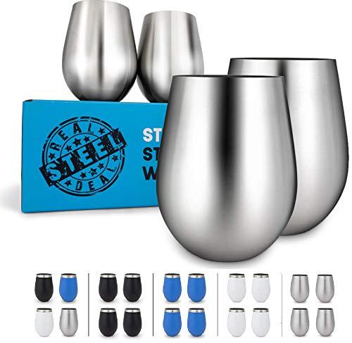Copas Para Vino marca Real Deal Steel