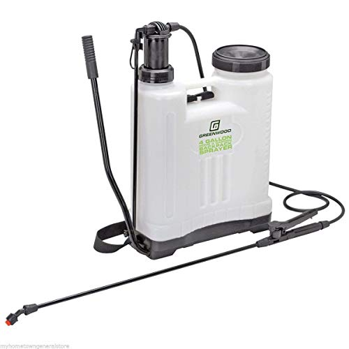 Greenwood 4 Gallon Backpack Sprayer with 4 Nozzles for Different Applications