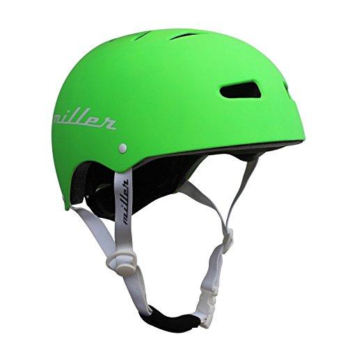 Miller Skateboards Unisex– Erwachsene Miller Pro Helmet II CE Black M/L Helm, Grün, Einheitsgröße