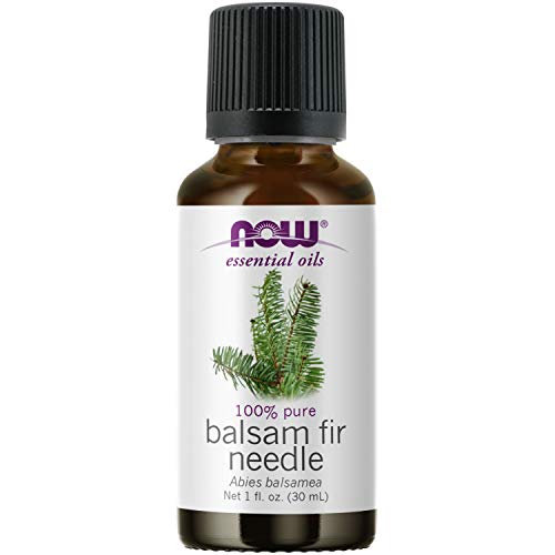 NOW Essential Oils, Balsam Fir Needle Oil, Woodsy Aromatherapy Scent, Steam Distilled, 100% Pure, Vegan, Child Resistant Cap, 1-Ounce