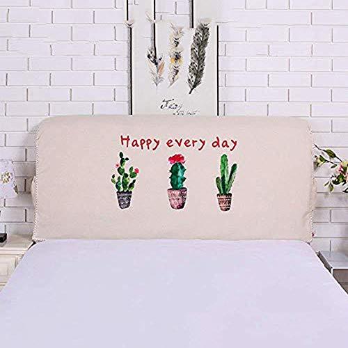 All-Inclusive Stoff Kopfteilbezug Soft Pack Europäischen Staubschutzhülle Protector Alten Bett Kopf Dekoration King Size Nacht Rückenlehne Waschbar,Cactus pattern