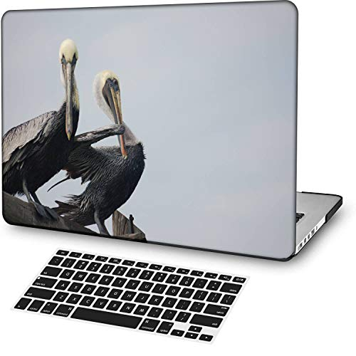 MingCaiFS Laptop Case for MacBook Air 13' Retina (Touch ID) Cut Out Design,Plastic Pattern Ultra Slim Light Hard case Keyboard Cover (Model:A2179) Animal B 0876