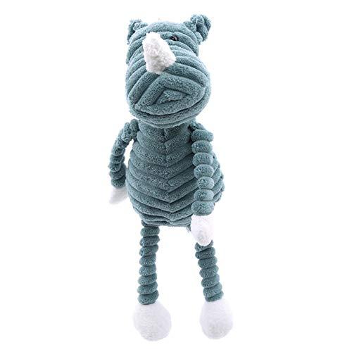 Stuffed Animals Cute Animal Shaped Plush Toys Creative Stuffed Doll for Kids Striped Soft Toys Home Table Decoration Fashion Car Ornaments-Rhinoceros