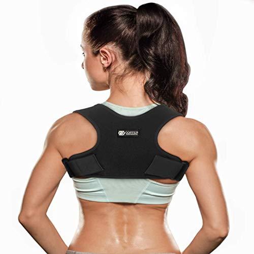 Zbm-zbm Corrector de postura de apoyo de espalda ajustable para hombres y mujeres, alivia el dolor de espalda, hombros y cuello, mejora la postura de espalda de 28 a 48 pulgadas