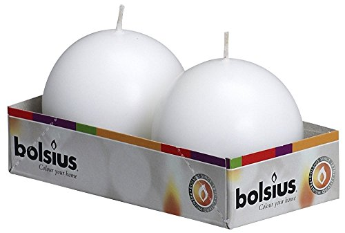 Bolsius Ball Candle, Pack of 2 , 'White'