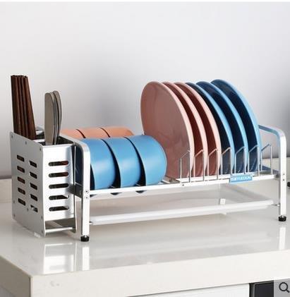 Bowl Shelf Drain Frame Fournitures de cuisine Vaisselle Mettre Bowl Incorporated étagère en acier inoxydable 43 * 25 * 18CM (edition : B, taille : 43 * 25 * 18CM)