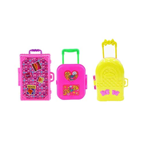 3 Piezas De Plástico Mini Maleta De Equipaje De Reproducción En Miniatura De Dollhouse Juguetes Viajes Muchacha De La Muñeca De Accesorios Juguetes Para Suministros Regalo De Los Niños De Los Niños