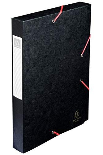 Exacompta 14016H - Carpeta de proyecto con goma, color negro