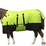 HILASON 76' 1200D Winter Waterproof Poly Horse Blanket Belly Wrap Lime