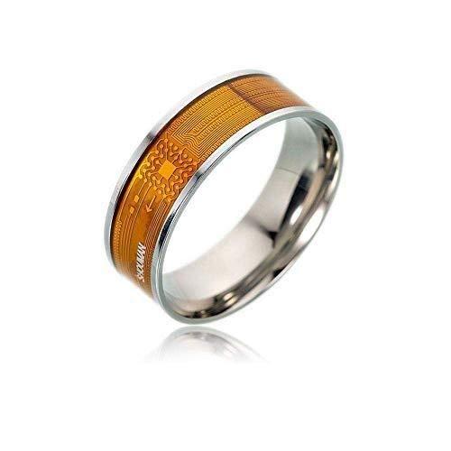 MISLD NFC Smart-ring, multifunctionele waterproof Intelligent-ring voor mannen en vrouwen, wearable Finger digitale ring intelligente deurbel voor Android en Windows Phones met NFC-functie 2-pack
