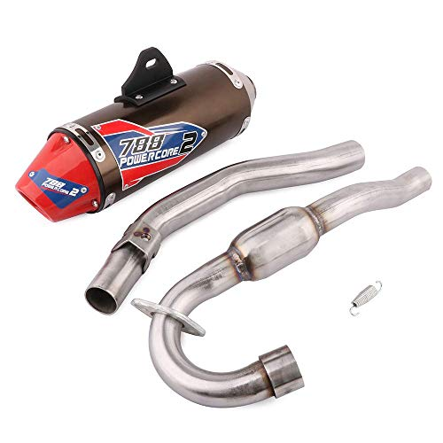 Full Slip On Exhaust Muffler - Complete Exhaust System For For Honda CRF150F CRF230F 2003 2004 2005 2006 2007 2008 2009 2010 2011 2012 2013