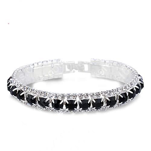 Pulsera 925 Pulseras de Plata de Ley Completa AAA Zircon Austriaco Cristal Mujeres eslabón Cadena joyería brazaletes 14 Colores
