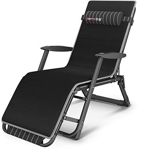 HPDOL Liegestuhl Relaxsessel/Multifunktionale schwerelosigkeit Stuhl/Garten armlehne schaukelstuhl/klapp strandkorb /, mit kopfstütze, Textil Stoff, Garten/Outdoor Liege, unterstützung 200 kg,BLCE-02