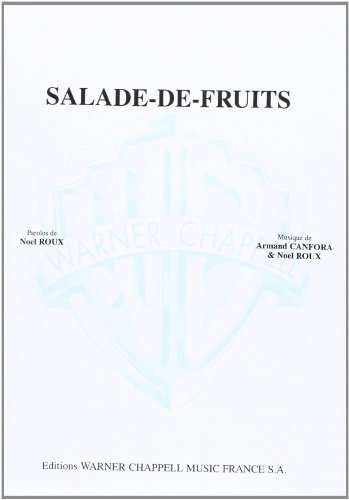 Bourvil Salade-De-Fruits Voice & Piano Book