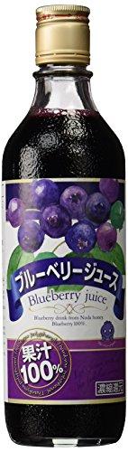 野田ハニー食品工業 野田ハニー ブルーベリー100%ジュースC 500ml [0097]
