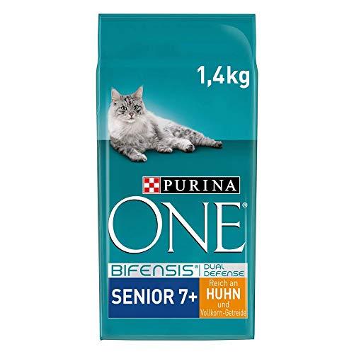 PURINA ONE BIFENSIS SENIOR 7+ Katzenfutter trocken, reich an Huhn, 6er Pack (6 x 1,5kg)