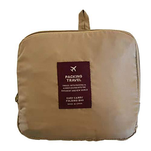 折り畳みトラベルバッグ 軽量 防水 旅行カバン キャリーオンバッグ 旅行バッグ キャリーハンドルに通せるベルト付 大容量 37? 2泊3泊4泊用 (ホワイト)