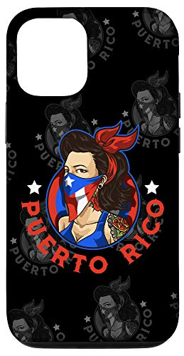 iPhone 12/12 Pro Puerto Rico Girl With Mask - Boricua Flag - Puertorriquena Case