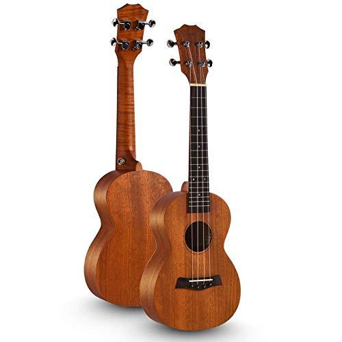Fácil de jugar - Guitarra de cuatro cuerdas de ukelele y caoba de 23 pulgadas-Flor de durazno dorado 23 pulgadas