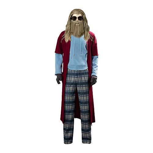 Tanwenling33 Disfraz de Thor Hombre para Adulto Peluca de Thor Traje de Thor Adulto Thor Cosplay Disfraz de Halloween Juego Completo