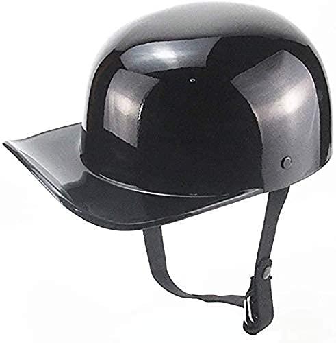 MRDAER Motorcycle Half Helmets ECE/ECE Brain Cap Half Shell Motorcycle Helmet Jet Helmet Scooter Helmet Retro Helmets Motorcycle Half Helmet for Cruiser Chopper Bike Moped B,M(54-55CM)